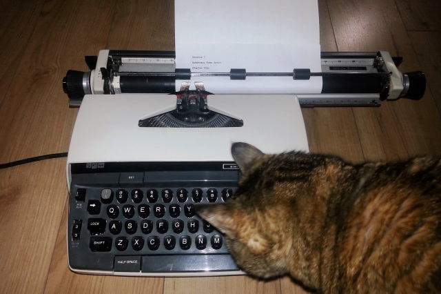 Typewriter with Cat